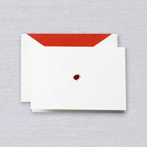 Crane Engraved Ladybug Note Set