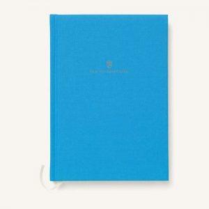 Graf-von-faber-castell linen bound A5 book gulf blue